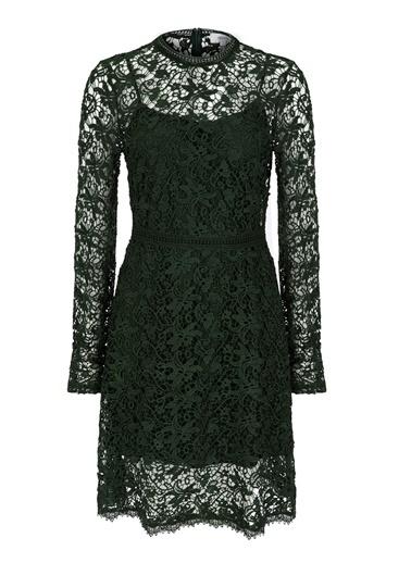 Dantel Detaylı Uzun Kol Elbise-Ipekyol